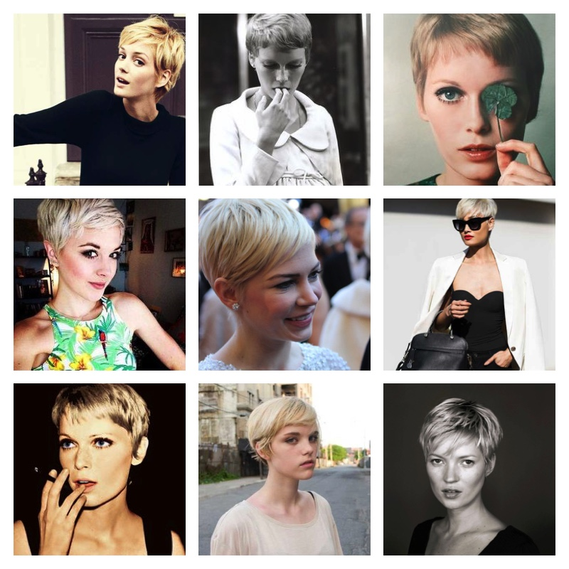 short pixie hair blond