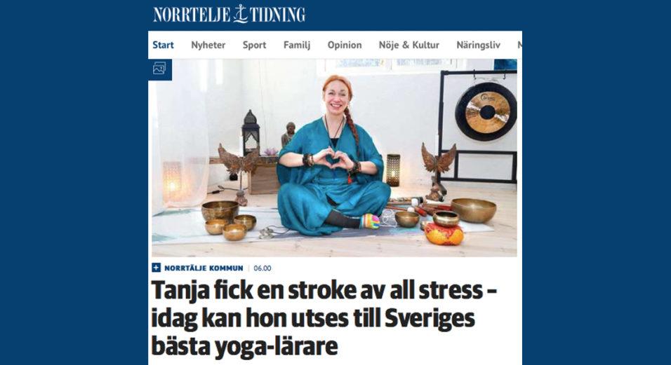 tanja-dyredand-arets-yogalrare-yogagalan-norrtalje-tidning