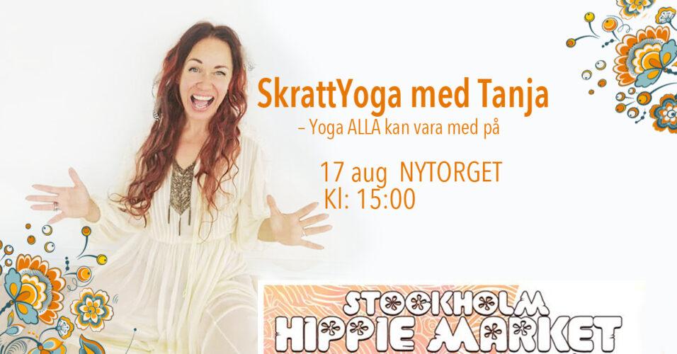 skrattyoga-tanja-dyredand-sthlmhippiemarket-nytorget-2019