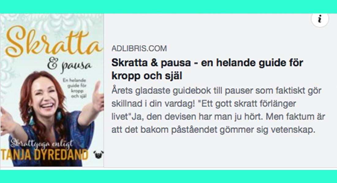 tanja-dyredand-adlibris-skratta-pausa-en-heland-guide-pugforlag-2019-yoga-skrattyoga